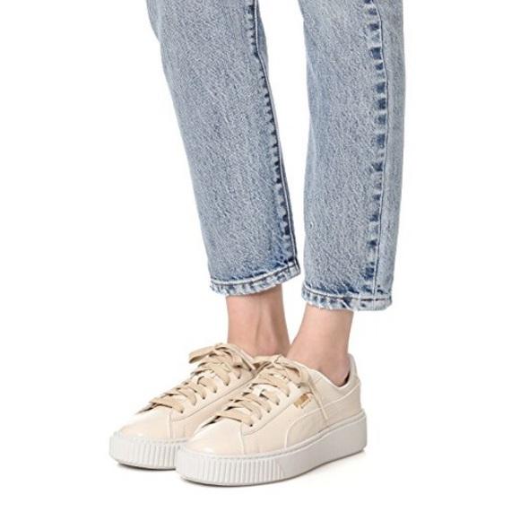 45079d86e5503a Puma Basket Platform Patent Sneaker